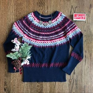 Tommy Hilfiger sequin fair isle sweater